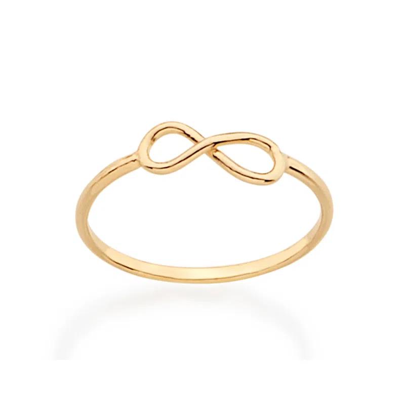 Anel Infinito Skinny Ring Folheado Em Ouro - Rommanel