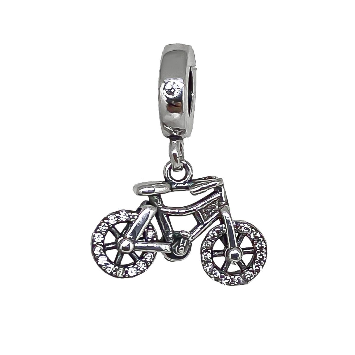 Berloque Bicicleta Vazado Para Ciclismo - Prata 925