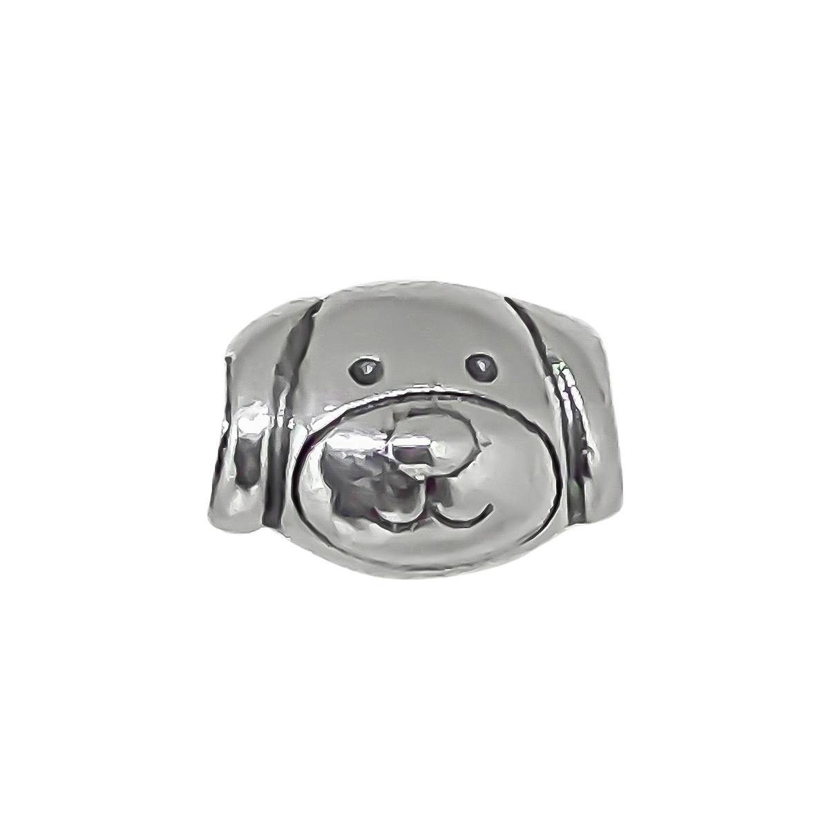 Berloque Cãozinho Fofo Pet Delicado Sem Pedras - Prata 925