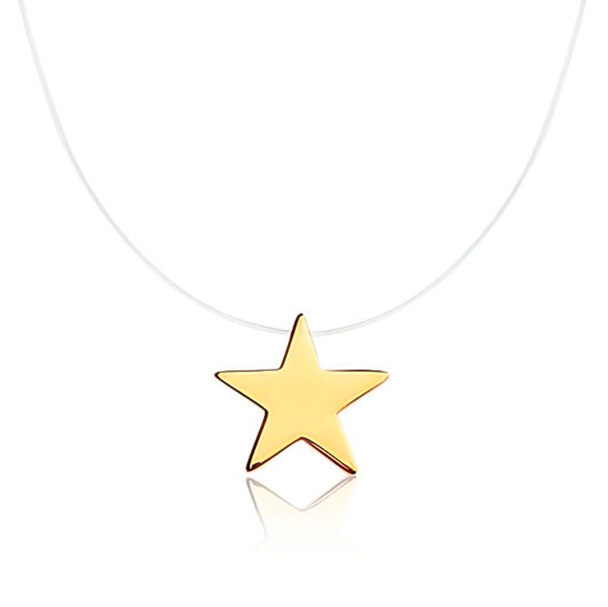 Colar De Estrela De Nylon Folheado Em Ouro