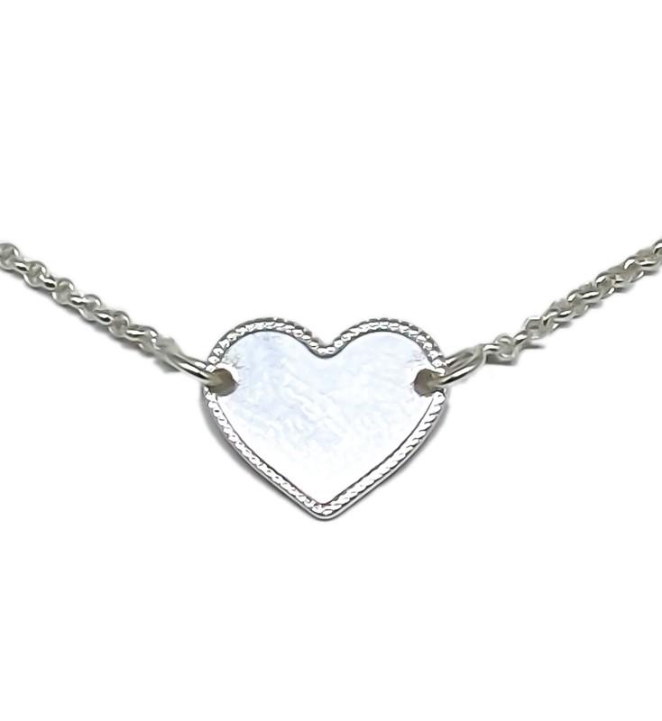 Colar Gargantilha De Coração Liso - Prata 925