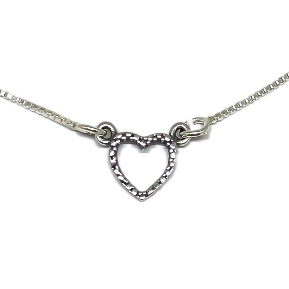 Colar Gargantilha De Coração Mínimo - Prata 925
