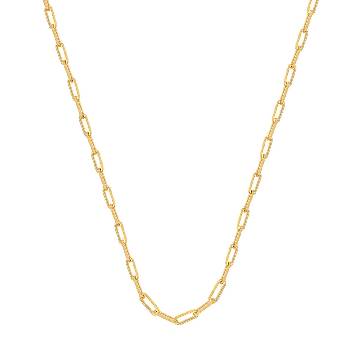 Corrente Masculina Cartier 60 cm Elo Maior Folheado Em Ouro