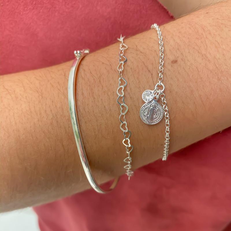 Look 3 pulseiras de prata 925 (10% OFF)