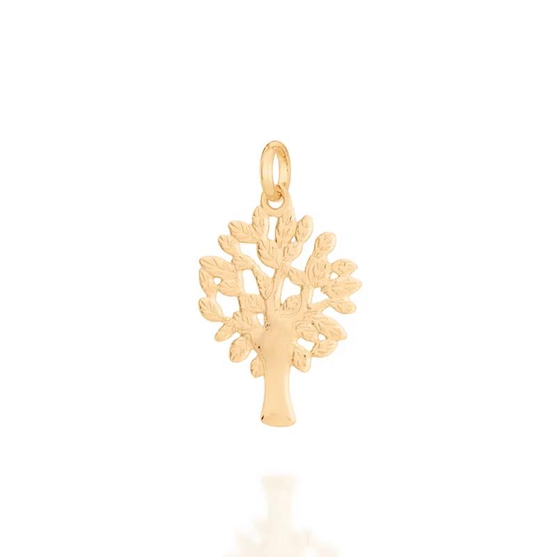Pingente Árvore Da Vida Lisa Folheado Em Ouro - Rommanel