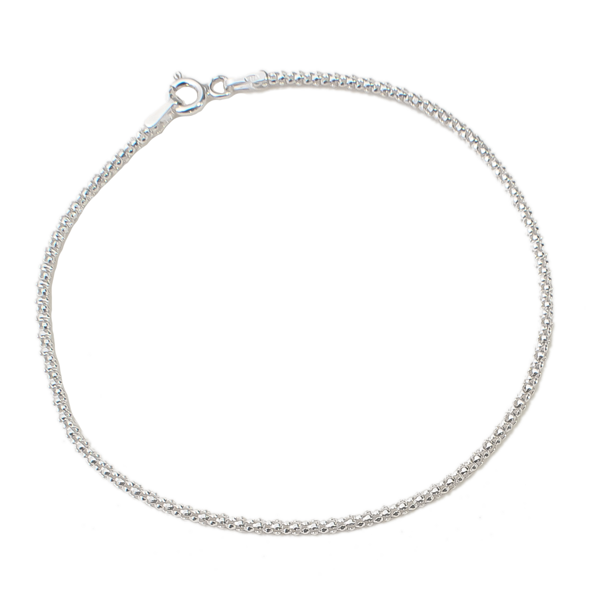 Pulseira Feminina Delicada 18 cm - Prata 925