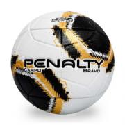 Bola Campo Penalty Branco/Dourado/Preto Masculino Bravo XXI