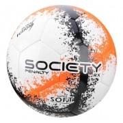 Bola Society Penalty Branco / Laranja Rx R3 Fusion