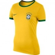 Camisa Nike Amarelo Feminino Brasil Cbf