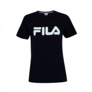 Camiseta Fila Preto/Branco Feminino Basic Letter