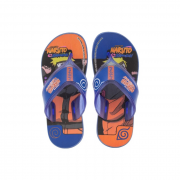Chinelo Grendene Azul/Laranja Masculino 22682 Naruto Anime