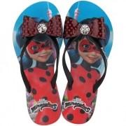 Chinelo Grendene Preto/Vermelho Feminino 21702 Ladybug