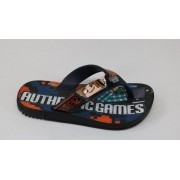 Chinelo Grendene Pto/Azul Masculino 22049 Authentic Games