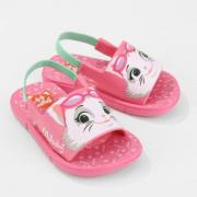 Chinelo Grendene Rosa/Verde Feminino 22581 Gatos Catband