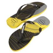 Chinelo Havaianas Amarelo/Preto Masculino Trend