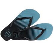 Chinelo Havaianas Preto/Azul Masculino Top Basic