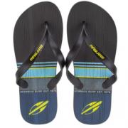 Chinelo Mormaii Preto/Azul/Amarelo Masculino 10591 Tropical Graphics