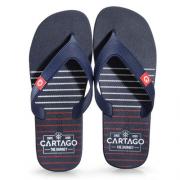 Chinelos Cartago Preto/Azul/Branco Masculino 10738 DAKAR