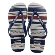 Chinelos Havaianas Branco/Marinho Masculino Top Nautical