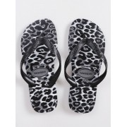 Chinelos Havaianas Cinza/Preto Feminino Top Animals
