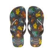 Chinelos Havaianas Grafite Masculino Kids Top Pokemon