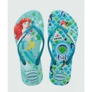 Chinelos Havaianas Ice Blue Feminino Princess Ariel