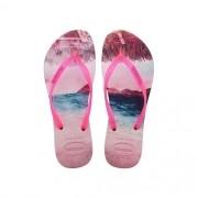 Chinelos Havaianas Pink Feminino Slim Paisage