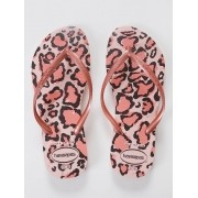 Chinelos Havaianas Rosa Feminino Slim Animals