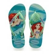 Chinelos Havaianas Verde Feminino Princess Ariel