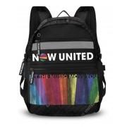 Mochila Clio Preto/Colorido Feminino Nu3258 Now United
