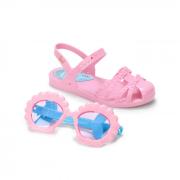 Sandália Grendene Rosa/Azul Feminino 22486 Disney Princesas Fun Glasses