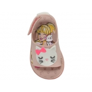 Sandalia Grendene Rosa/Branco Feminino 22150 Fashion Cat