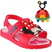 Sandalia Grendene Vermelho/Rosa Feminino 21996 Mickey E Minnie Baby
