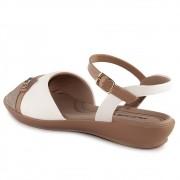 Sandalia Piccadilly Nude/Branco Feminino 500270