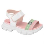 Sandálias Molekinha Branco/Rosa/Verde Feminino 2331.100