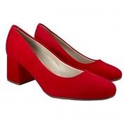 Sapato Salto Baixo Beira Rio Vermelho Feminino 4245.100