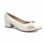 Sapato Salto Baixo Modare Creme Feminino 7340.102