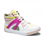 Tênis Cano Alto Dakota Baunilha/Pink/Limão Feminino G4301