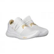 Tênis Fila Branco/Dourado Feminino Trend 2.0