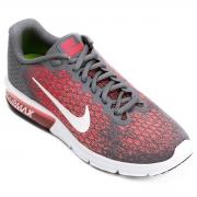 Tenis Nike Cinza/Rosa Feminino Air Max Sequent 2