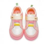 Tênis Pampili Branco/Rosa/Amarelo Feminino 662003