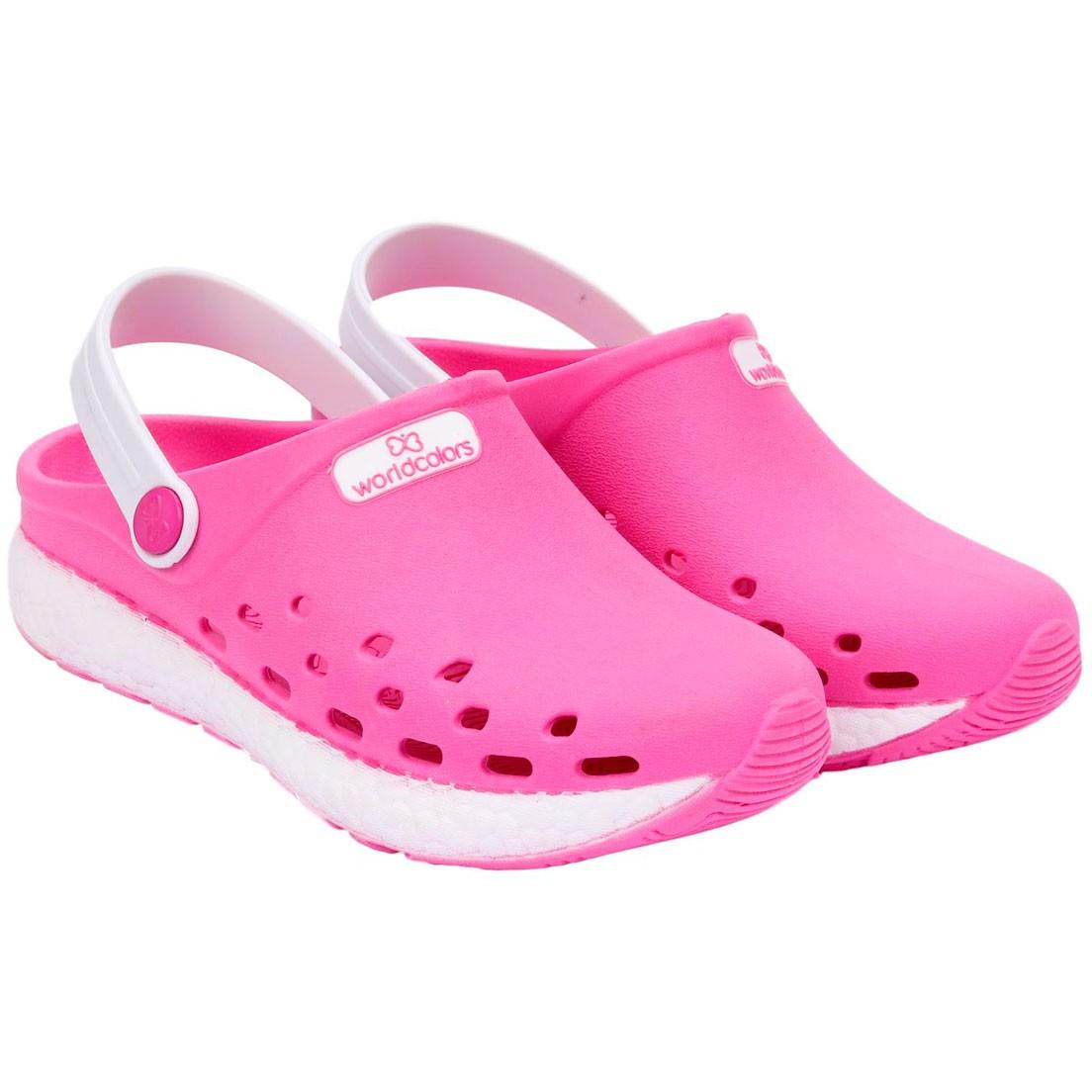 Babuche World Colors Pink/Branco Feminino 130 0021507