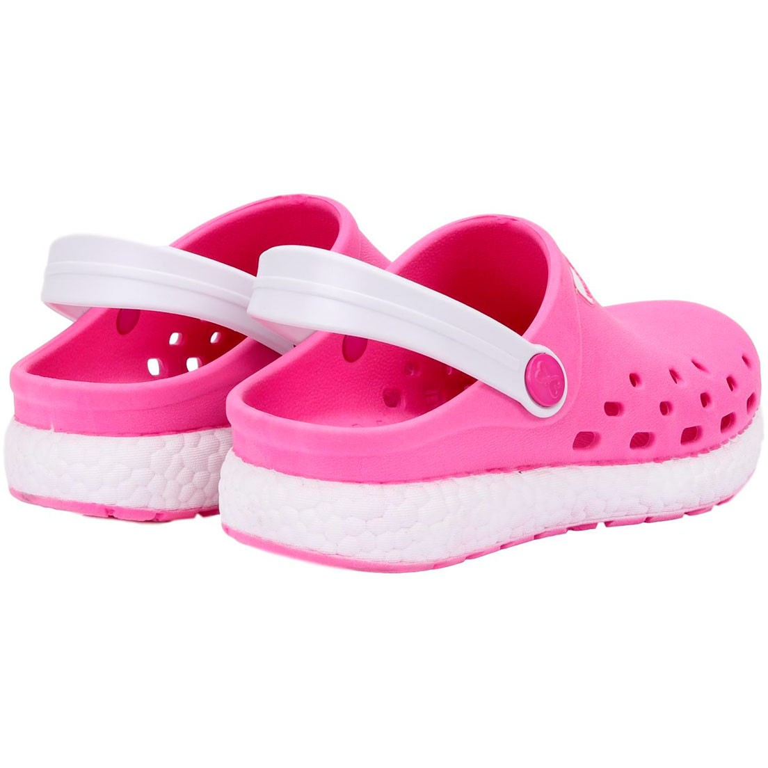 Babuche World Colors Pink/Branco Feminino 130.0021507