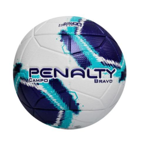 Bola Campo Penalty Branco/Azul/Roxo Masculino Bravo XXI