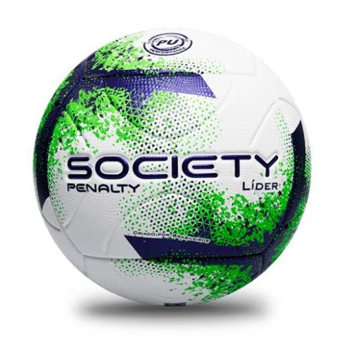 Bola Society Penalty Branco/Roxo/Verde Masculino Lider XXI