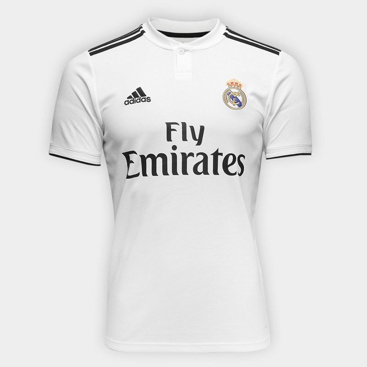 Camisa Adidas Real Madrid Masculina Branca Real Madrid DH3372