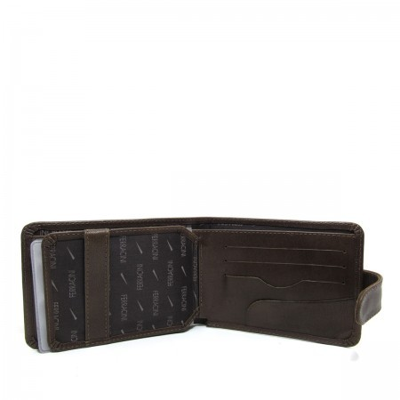 Carteira Ferracini Chocolate Masculino Cfb002