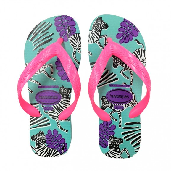 Chinelos Havaianas Azul Ceu Feminino Kids Top Fashion
