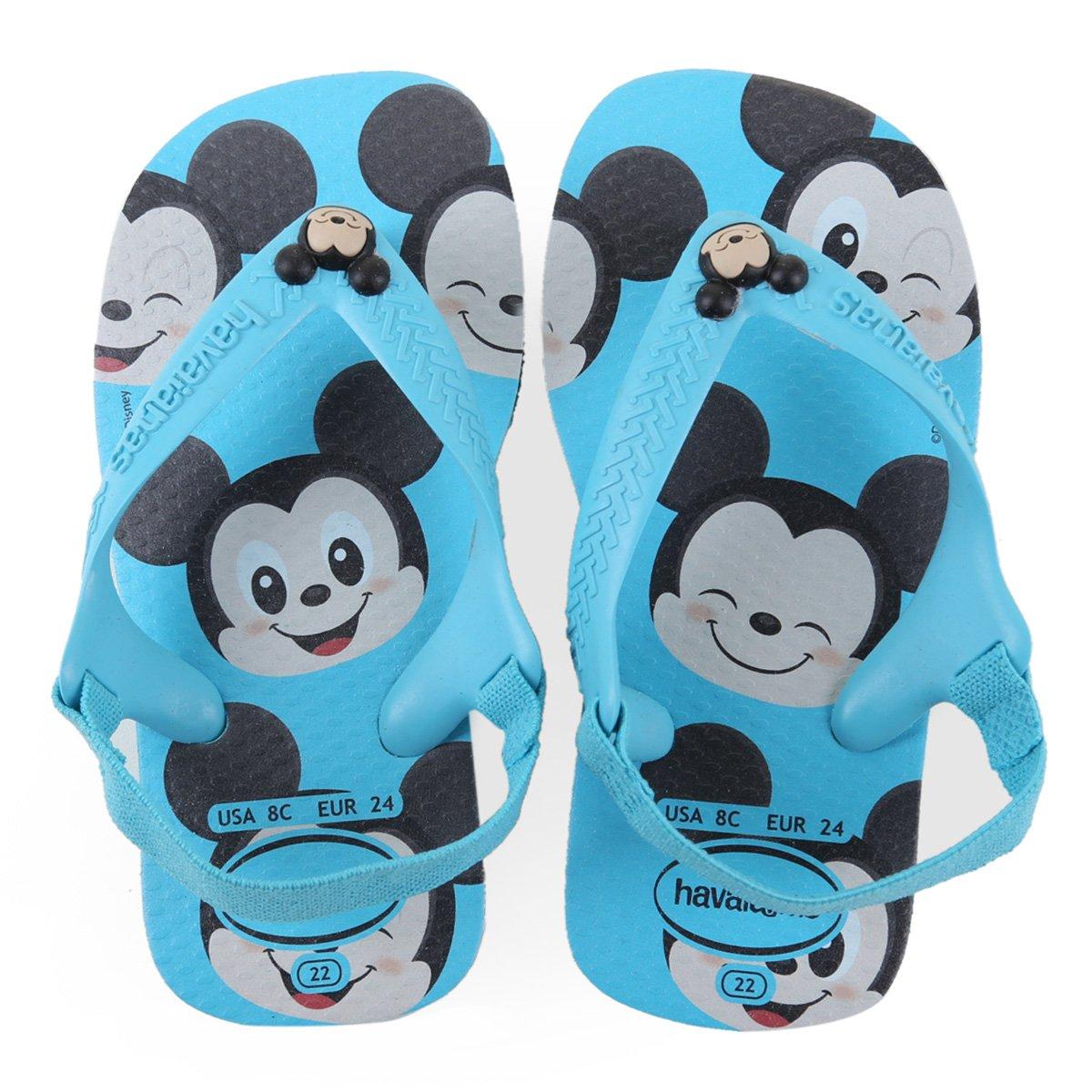 Chinelos Havaianas Azul Masculino New Baby Disney Classics