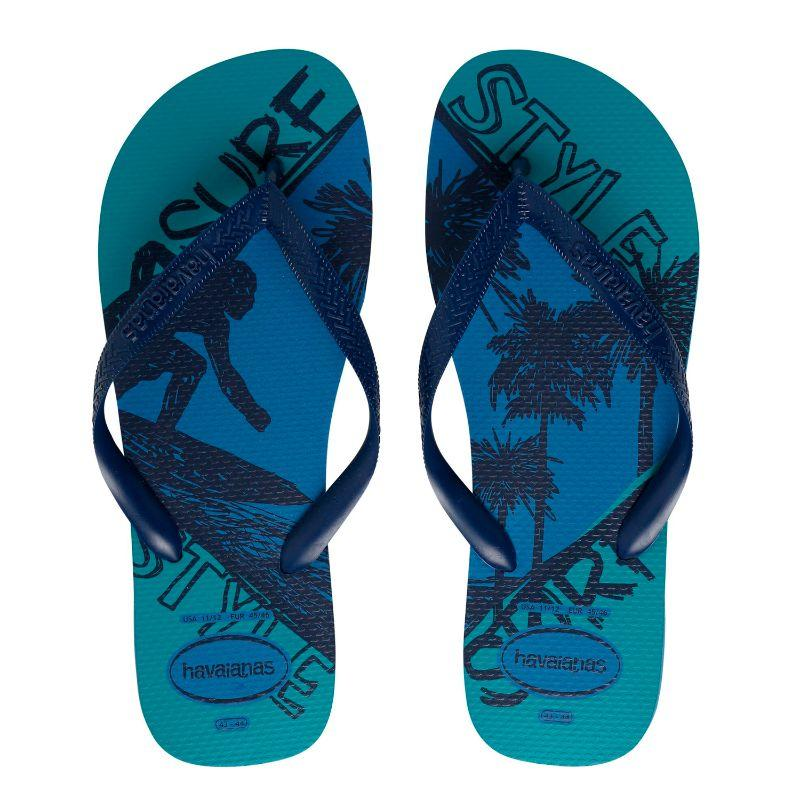 Chinelos Havaianas Azul Masculino Top Athletic Fc